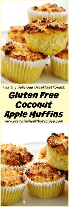 Gluten Free Coconut Apple Muffins #glutenfreerecipes #flourless #apple #muffins #breakfastrecipes #brunch #healthysnacks #coconut #lowcarbdiet