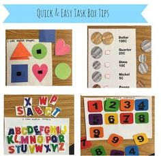 Quick and easy task box ideas!