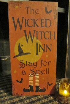 Primitive Handpainted Wood Sign The Wicked by DaisyPatchPrimitives, $21.00