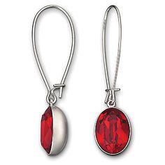 #Swarovski Red Earrings from Borsheims for $55