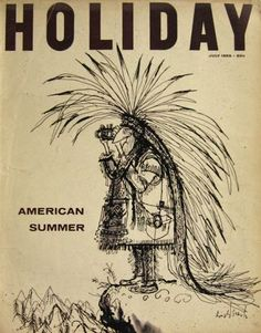 Cover for Holiday magazine, 1959, American Summer, Ronald Searle
