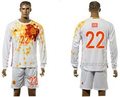 http://www.yjersey.com/22-isco-away-euro-2016-long-sleeve-jersey-spain.html 22 ISCO AWAY EURO 2016 LONG SLEEVE JERSEY SPAIN Only 35.00€ , Free Shipping!
