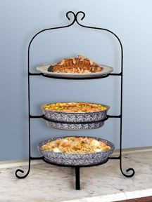 3-Tier Pie u0026 Plate Rack & Three Tier Wrought Iron Pie/Plate Rack - This one would do ...