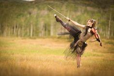 Lindsey Stirling dancing in nature wallpaper