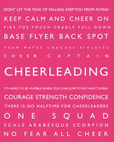 Cheerleading Personalized Kids Wall Art Sports Decor Typography S Cheer Room