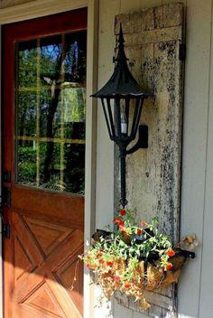 64 Rustic Farmhouse Front Porch Decorating Ideas