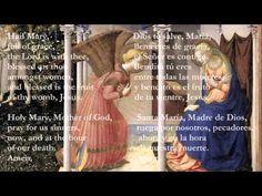 Catholic Prayers - Hail Mary, English and Latin side-by-side Prayers To Mary, Novena Prayers, Catholic Prayers, Rosary Quotes, Catholic Quotes, Blessed Mother Mary, Blessed Virgin Mary, Hail Mary In Latin, Printable Prayers