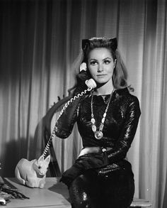 Batman Classic 1966 TV Catwoman On The Phone Gallery Print