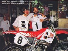 Jean Michel bayle - Cliff White - southwick 1991 - 250cc outdoor champion - motocross