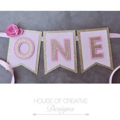 First Birthday Party High Chair Banner by HOCDesignsMarket on Etsy Pink Gold Birthday, Kylie Birthday, First Birthday Party Themes, Baby Girl Birthday, Birthday Diy, Birthday Party Decorations, Birthday Ideas, Biscuit, High Chair Banner