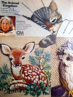 The Animal Kingdom By Erica Wilson 21 Traceable Crewel And Needlepoint Patterns by NeedANeedle, $18.75 Embroidery Book