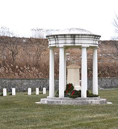 Finn's Point National Cemetery New Jersey many Union bodies were simply thrown into a pit.At Finn's Point .this is the Marker December National Wreaths Across America Day were placed , Veterans Cemetery, Wreaths Across America, National Cemetery, Marker, Bodies, Gazebo, December, Outdoor Structures, Places