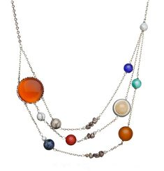 The ThinkGeek necklace is made up to include our asteroid belt