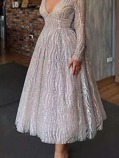 Sexy long sleeve deep V skater long Evening Dresses - ClothingI Evening Dresses With Sleeves, Evening Dresses For Weddings, Women's Evening Dresses, Mini Dress With Sleeves, Wedding Gowns, Cheap Long Dresses, Trendy Dresses, Elegant Dresses, Sexy Dresses
