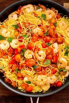 You're going to be making this satisfying shrimp pasta all summer long. Bruschetta Shrimp Pasta - Delish