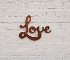 Hourigan Designs is a specialist wood design workshop offering the finest custom wooden signs and personalised engraved timber signs. All You Need Is Love, My Love, Typography, Lettering, Love Signs, Neon Signs, Love Letters, Love Heart, Sweet Home