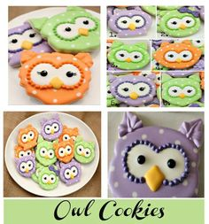 Owl Cookies by Sugarbelle Owl Cookies, Biscuit Cookies, Cupcake Cookies, Cookie Baskets, Cookie Jars, Cookie Decorating Icing, Biscuits, Owl Crochet Patterns, Kinds Of Cookies