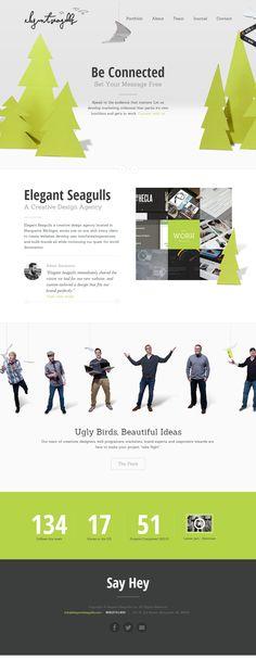 Elegant Seagulls, 20 November 2013. http://www.awwwards.com/web-design-awards/elegant-seagulls-1 #OnePage #Clean #DeveloperAward