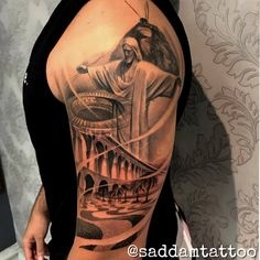 Time Tattoos, Tatoos, Manga Tattoo, Mythology Tattoos, Christ The Redeemer, Best Sleeve Tattoos, Shoulder Tattoo, Tattoo Studio, Tattoo Inspiration