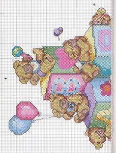 Schema punto croce Bears N Blocks 2