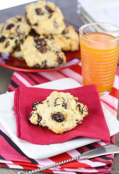 Dark Chocolate Cherry Scones- Garnish with Lemon