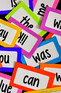 Free printables to make your own sight word flashcards