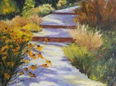 """Saatchi Art Artist Kit Mahoney; Painting, """"Garden Path KM3105"""" #art"""