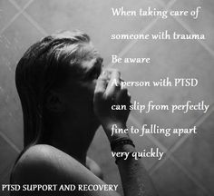 PTSD, anxiety disorder and depression can be crippling without a good support system.