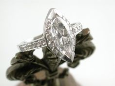 OOAK Fine Diamond with a Halo for the Princess by RandomJewels, $8600.00