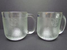 Set Of 2 Vintage 50 Cl Finland Arabia Littala Krouvi Scandinavian Glass Beer Mug