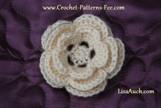 crochet flowers free patterns | Free Patterns] 12 Quick And Easy Crochet Flower Patterns - Knit And ...