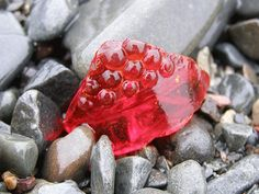 Red Beach Glass Art Digital Download Sea Glass Art Mermaid