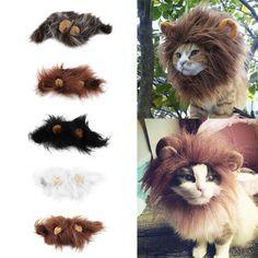 2016 Hot Sale Pet Cat Dog Dress Up Costume Wig Emulation Lion Hair Mane Ears Head Cap Autumn Winter Muffler Scarf