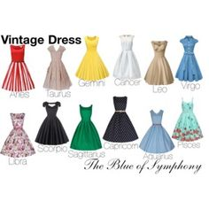 Vintage Dress-Zodiac Signs
