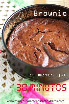 Brownie em menos que 30 minutos – Sem farinha, sem açúcar!