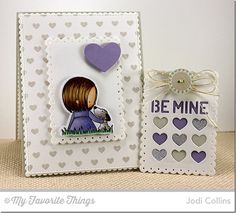 You Have My Heart stamp set and Die-namics, Tiny Hearts Background, Tag Builder Blueprints 3 Die-namics - Jodi Collins #mftstamps