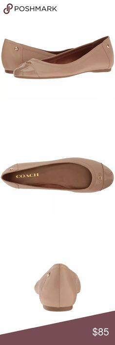 NWT Coach Flats The perfect nude flat! These are gorgeous and the leather is so soft. Brand new! Coach Shoes Flats & Loafers