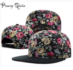 5105d123eab wholesale baseball caps hat women men flower snapback hats snap backs brand  Adjustable fashion baseball hip hop cap sun hats-in Baseball Caps from Men s  ...