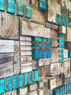 Wood Wall Art Panel : BlueGreen 15 by Delphworx on Etsy - wood art Wood Wall Art Panel : BlueGreen 15 by Delphworx on Etsy - Home Decoraiton Wooden Wall Art Panels, Diy Wood Wall, Panel Wall Art, Wooden Art, Wooden Walls, Scrap Wood Art, Panel Walls, Mural Wall Art, Into The Woods