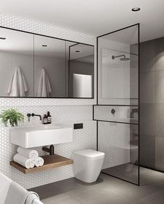 Bathroom tips, bathroom renovation, bathroom decor and master bathroom organization! Bathrooms may be beautiful too! From claw-foot tubs to shiny fixtures, they are the bathroom that inspire me the most. Modern Bathroom, Bathroom Decor, Bathroom Decor Apartment, Bathroom Design Small, Luxury Bathroom, Modern Bathroom Decor, Bathroom Interior Design, Bathroom Renovations, Bathroom Design