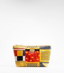 Obsessed with this print. Printed Coated Poplin Small Cosmetic Case