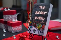 Table display from book release party.
