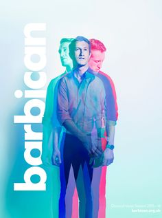 Barbican Classical Music Season - Max Oppenheim on Behance Graphic Design Trends, Graphic Design Posters, Graphic Design Typography, Graphic Design Inspiration, Multiple Exposure, Double Exposure, Rembrandt Portrait, Fashion Show Poster, Graph Design