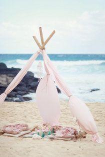 Romantic beach picnic.