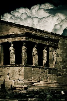 Porch Of The Caryatids - Athens, Greece.  Go to www.YourTravelVideos.com or just click on photo for home videos and much more on sites like this.