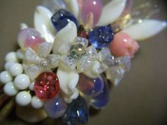 Attributed to Louis Rousselet Multi Blown Glass Cluster Brooch and Clip Earrings | eBay