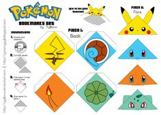 5 Best Images of Cute Pokemon Bookmarks Printable - Pokemon Bookmarks Printable, Free Printable Pokemon Bookmarks and Pokemon Pikachu Bookmark Pokemon Craft, Pokemon Party, Pokemon Birthday, Bookmark Template, Origami Bookmark, Diy Bookmarks, Corner Bookmarks, Fun Crafts, Craft Ideas