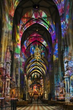 Vienna, Austria – St. Stephen's Cathedral. The glorious roof is covered with 200,000 colorful tiles.