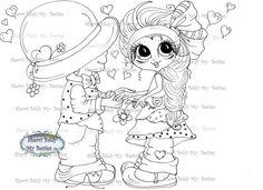 INSTANT DOWNLOAD Digital Digi Stamps Big Eye Big Head Dolls Digi Loveable Besties Img5112 By Sherri Baldy