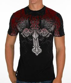91aae358 This is a tight fitted shirt and it looks so amazing on him! Affliction  Angelo T-Shirt